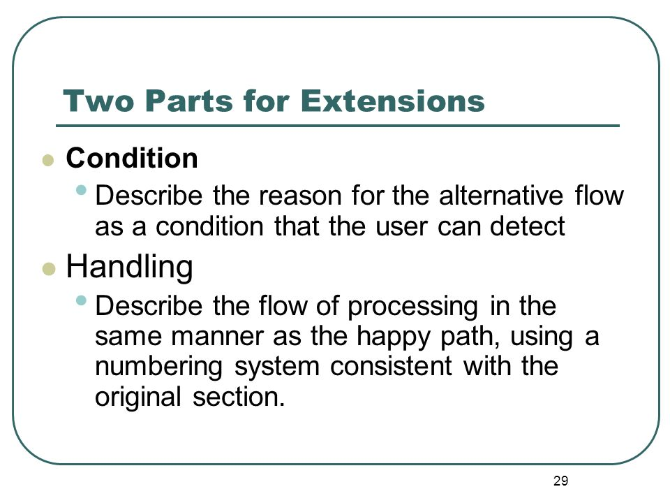Two Parts for Extensions