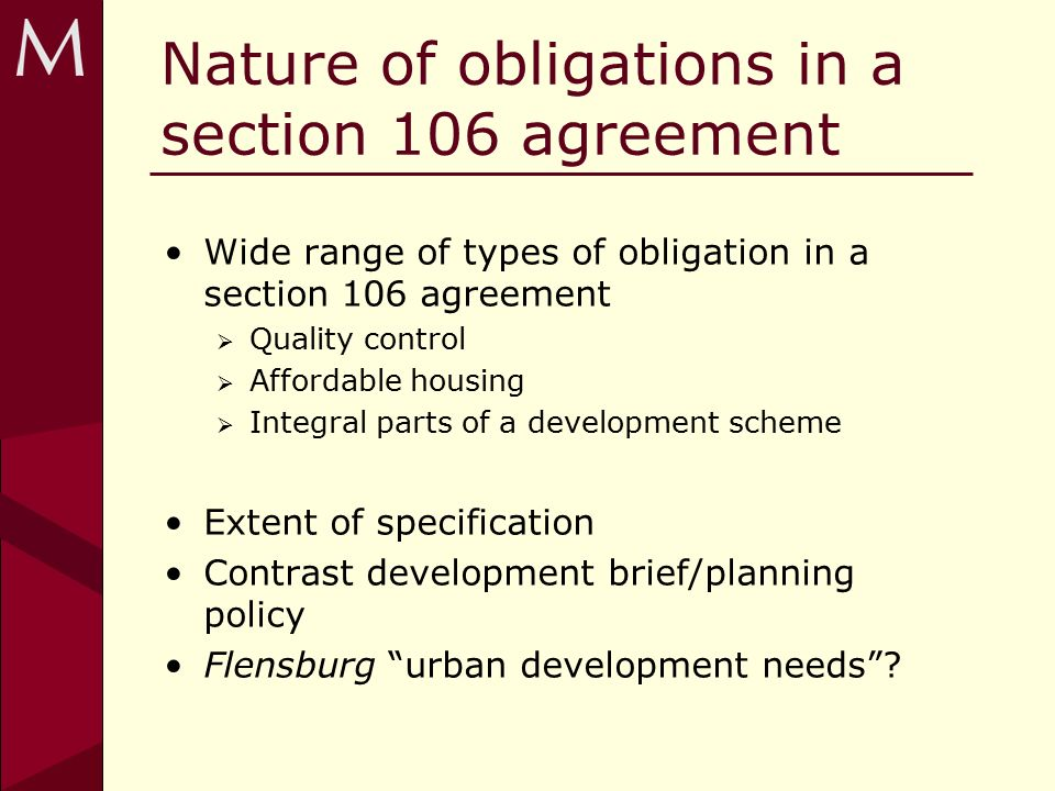 Section 106 Obligations When Are They Caught Ppt Download
