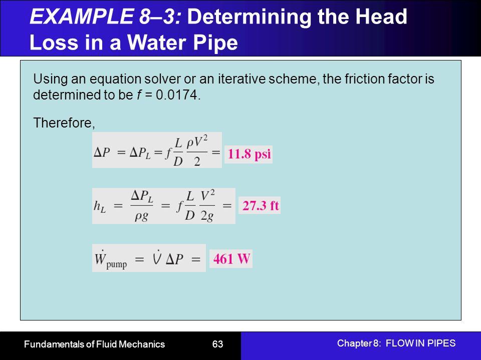 Fundamentals of fluid mechanics ppt download 63 example ccuart Gallery