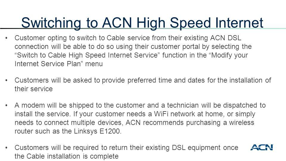 ACN High Speed Internet + Voice - ppt download