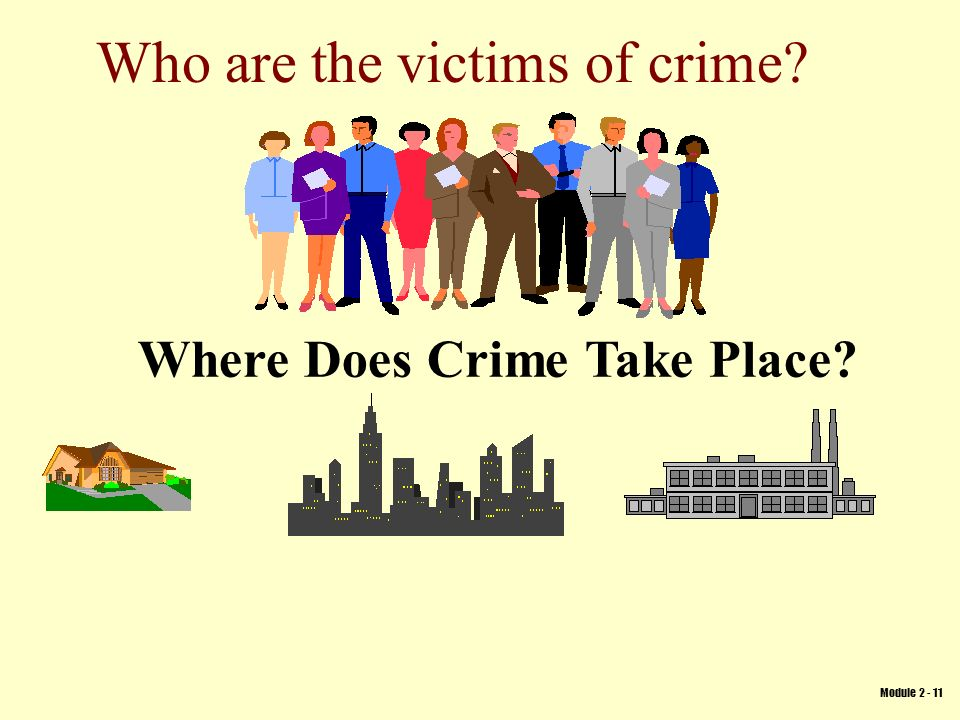 Who are the victims of crime