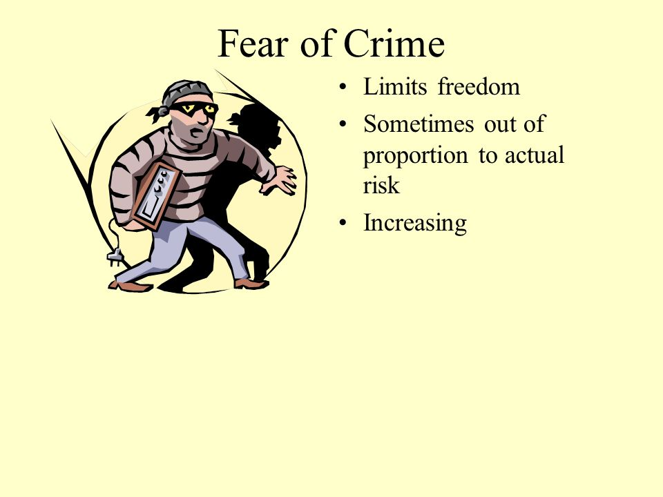 Fear of Crime Limits freedom
