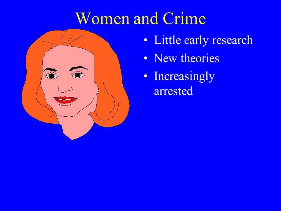 Women and Crime Little early research New theories