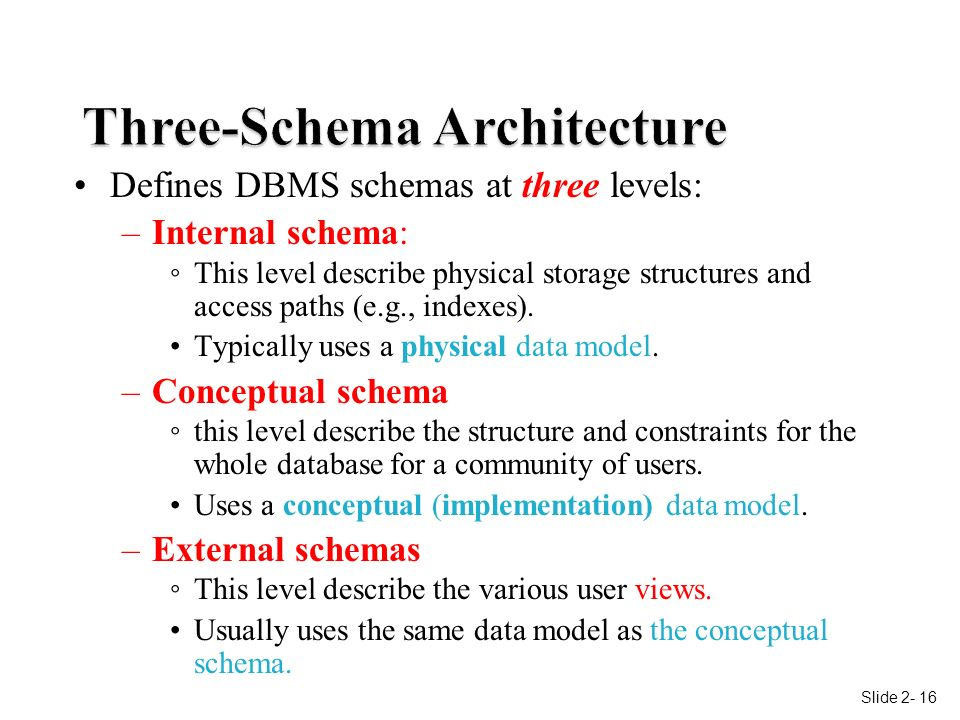 Lecture 2 database management systems ppt download 16 three schema architecture ccuart Choice Image