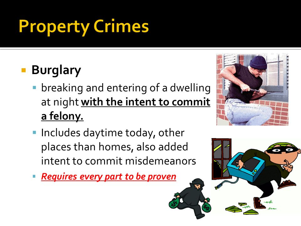 Property Crimes Burglary