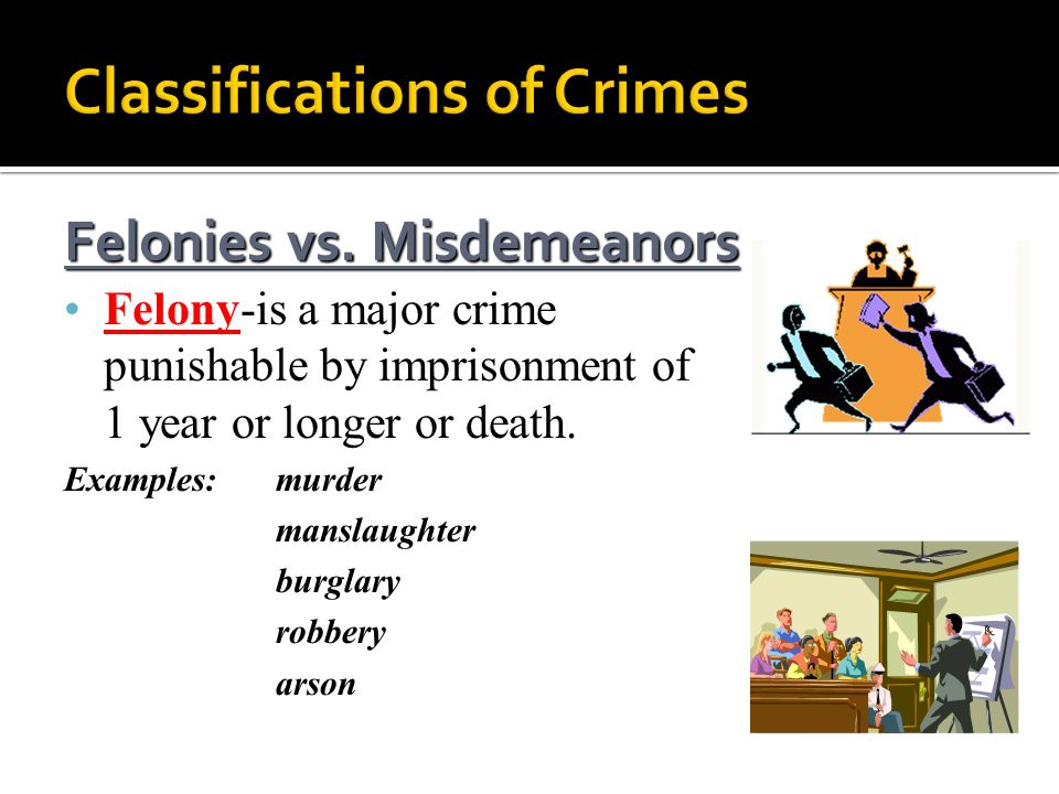 Classifications of Crimes