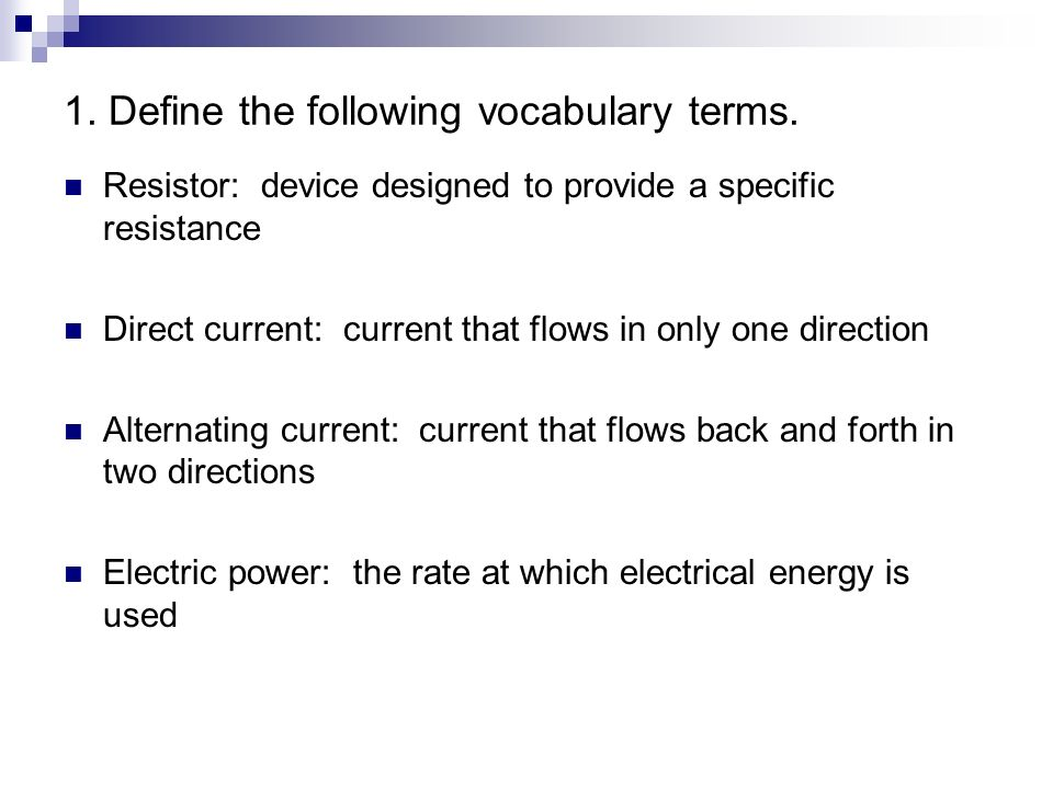Current Electricity Review Answers Ppt Video Online Download