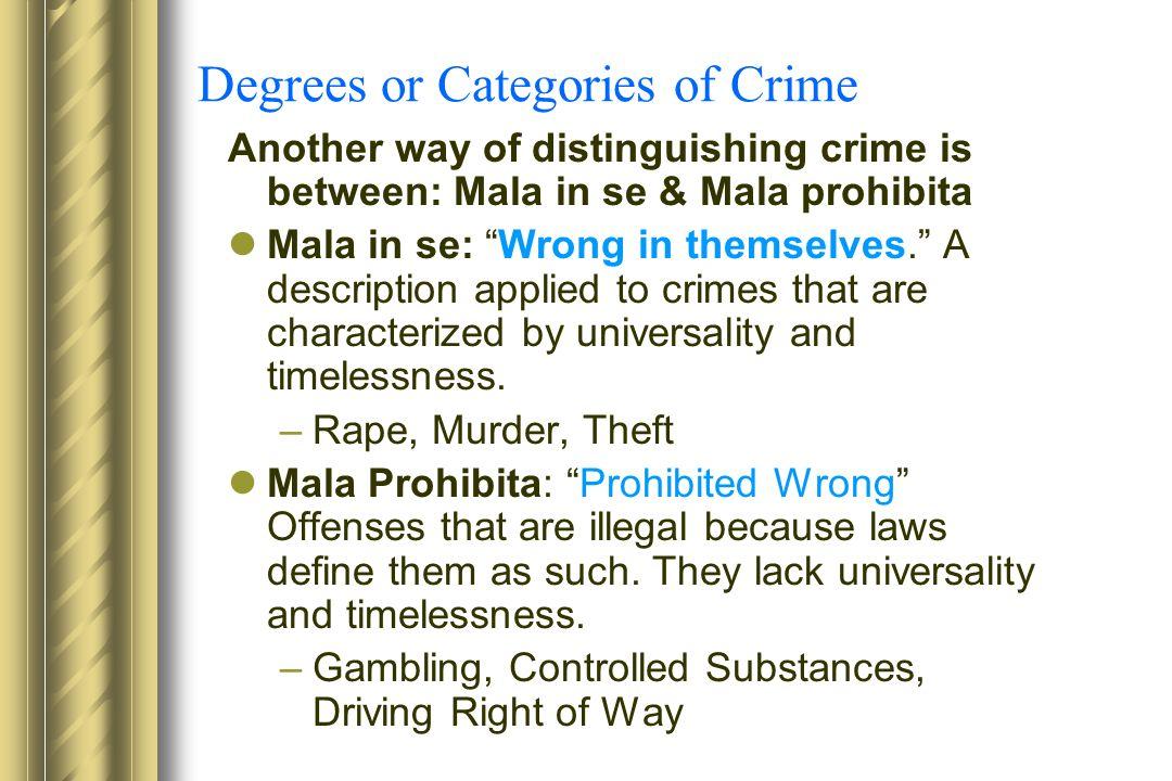 mala in se and mala prohibita