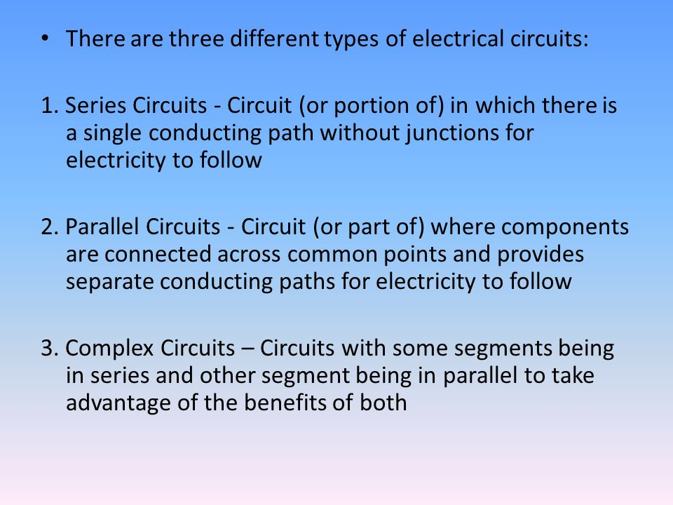Electricity and Electrical Circuits Part 1 - Introduction - ppt ...