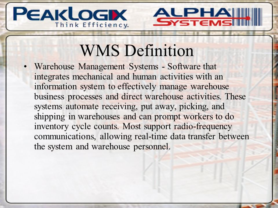 WMS  - ppt download