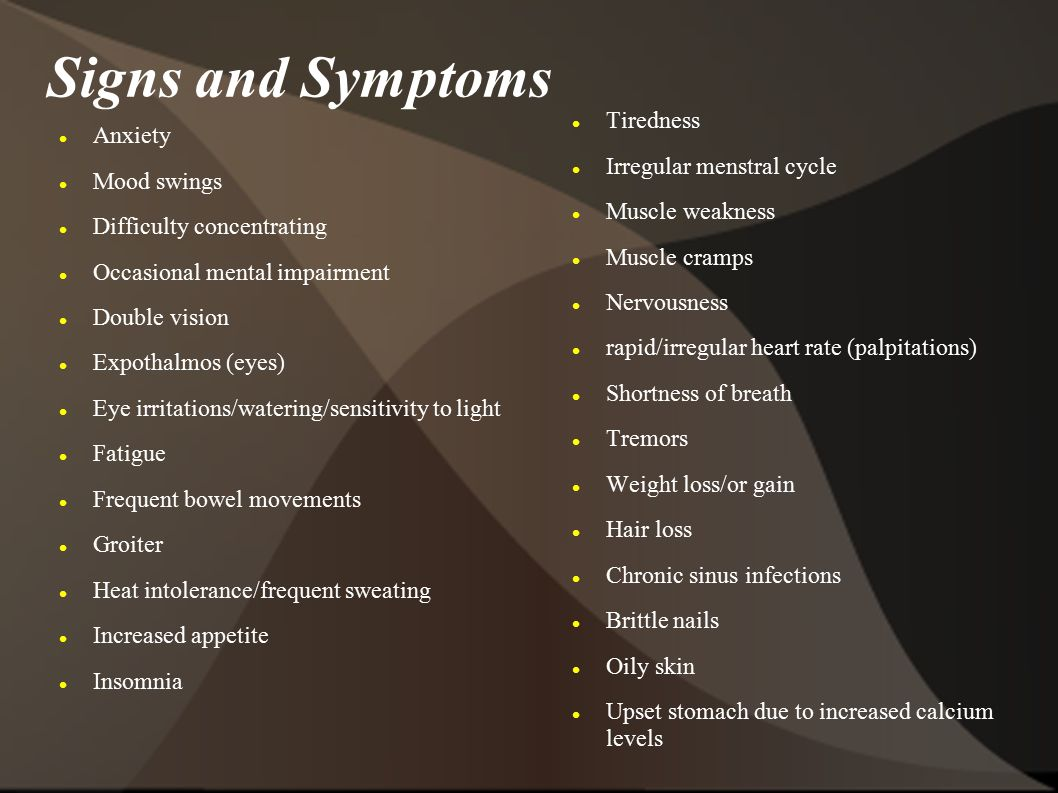 Thyroid Disease: graves disease anxiety attacks