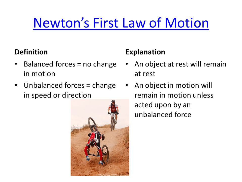 define newtons first law of motion