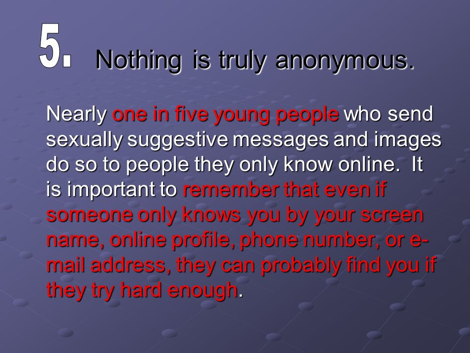 sexting online anonymous