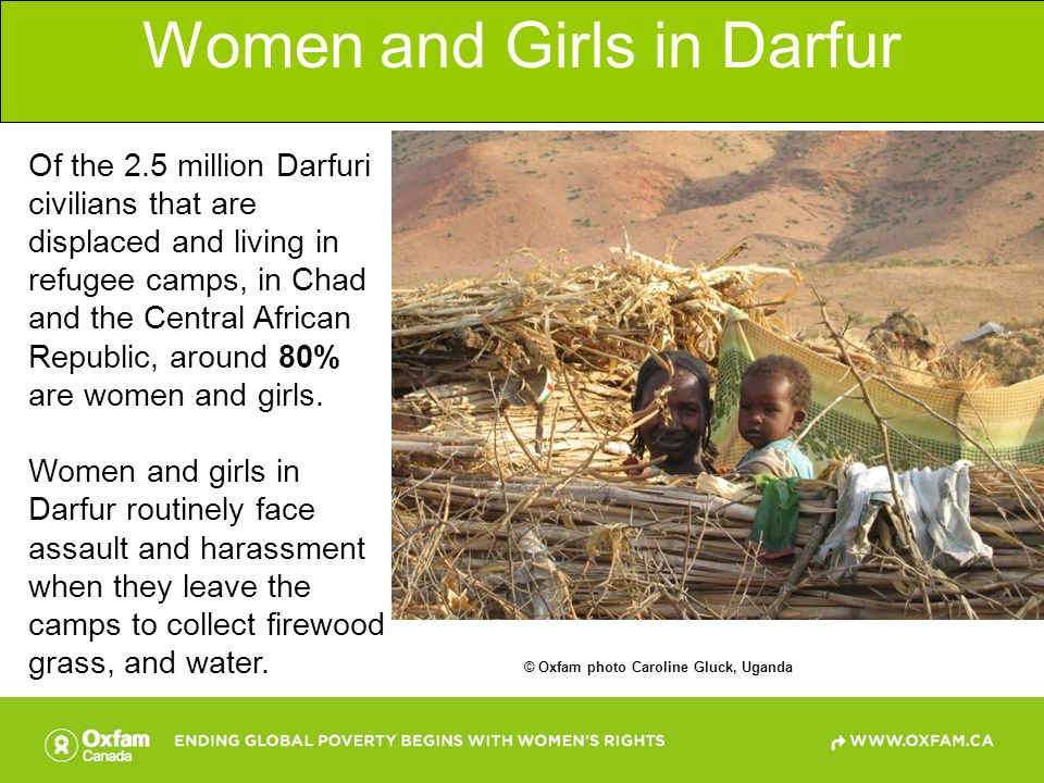 Women and Girls in Darfur