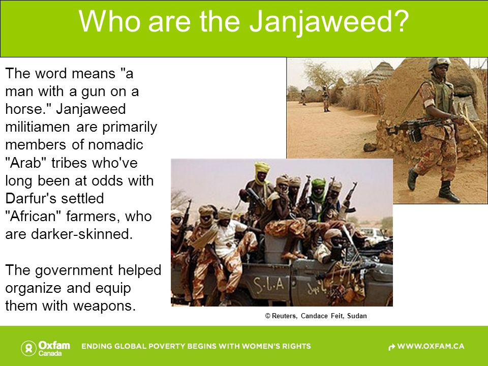 Who are the Janjaweed