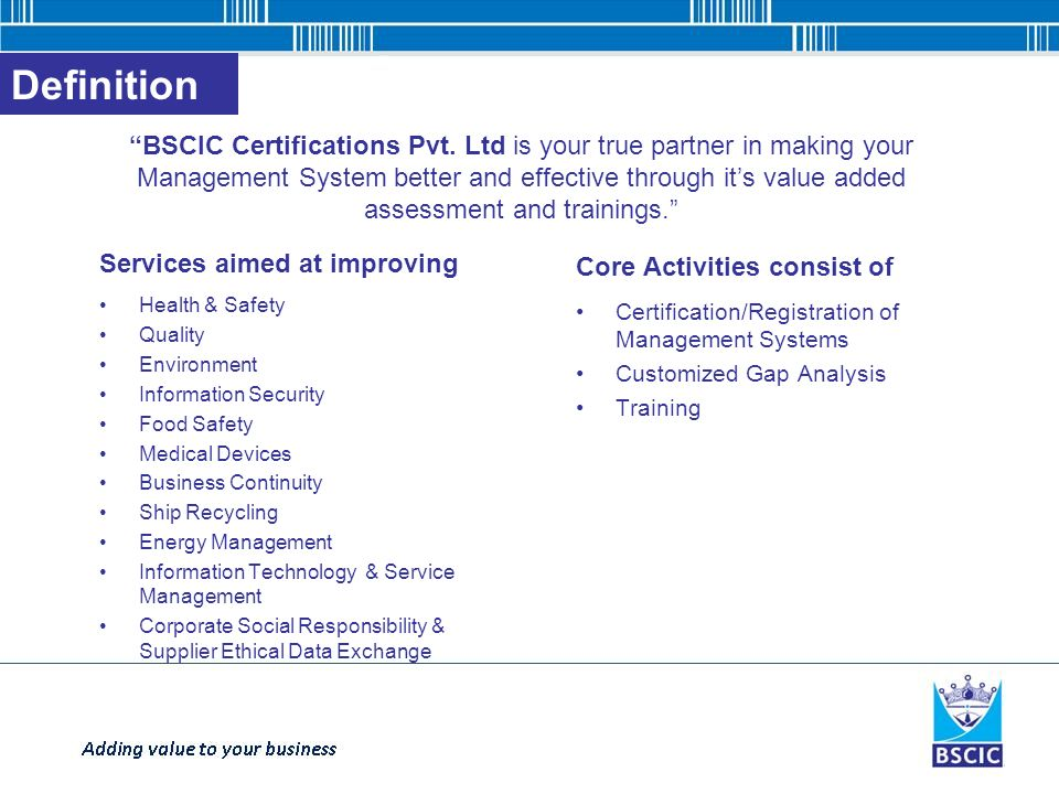 Bscic Certifications Private Limited Ppt Download