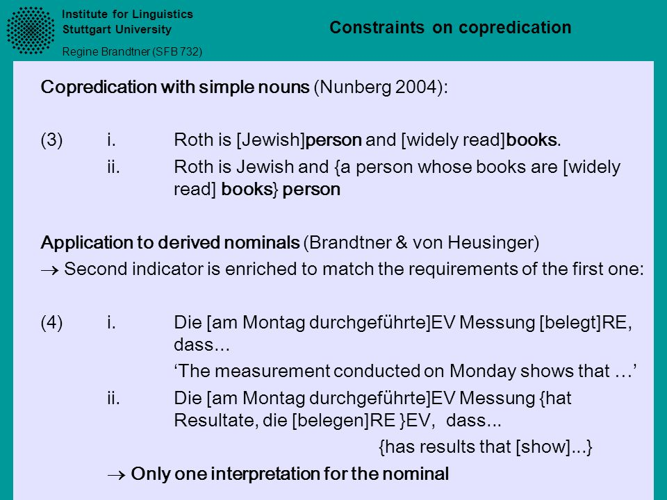 Copredication with simple nouns (Nunberg 2004):