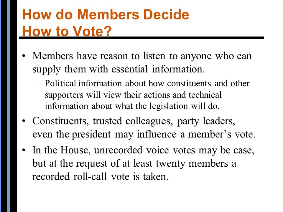 Congress The Logic of American Politics Chapter Six - ppt