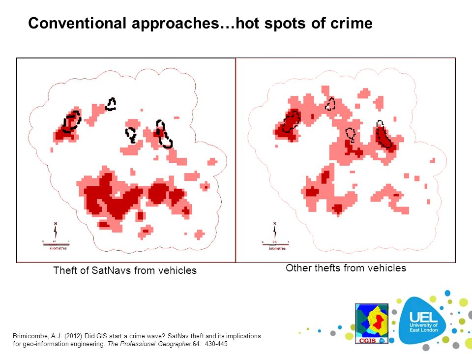 Conventional approaches…hot spots of crime