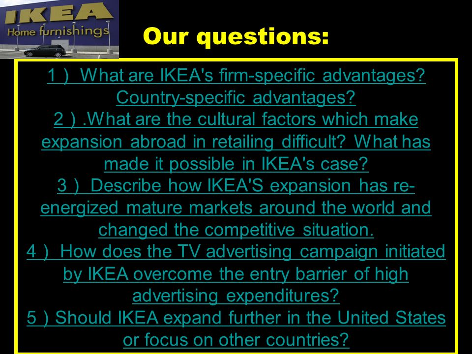 ikea firm specific advantages