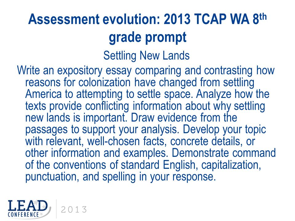 The TCAP Writing Assessment - ppt download