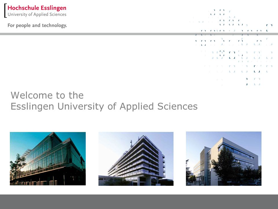 Welcome to the Esslingen University of Applied Sciences