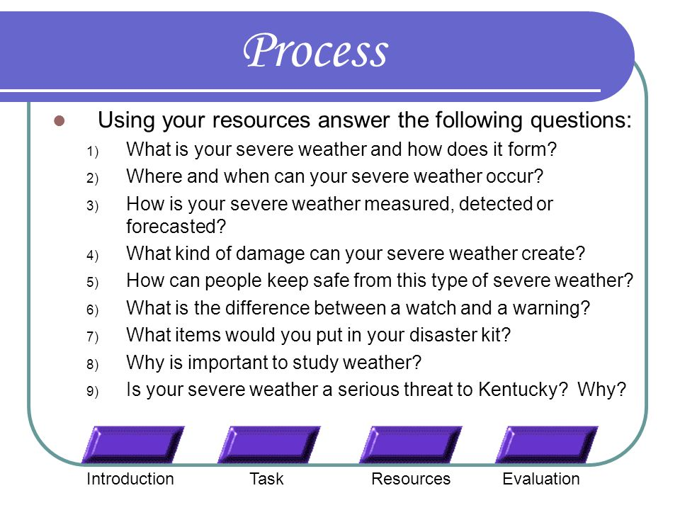 SEVERE WEATHER WEBQUEST PDF