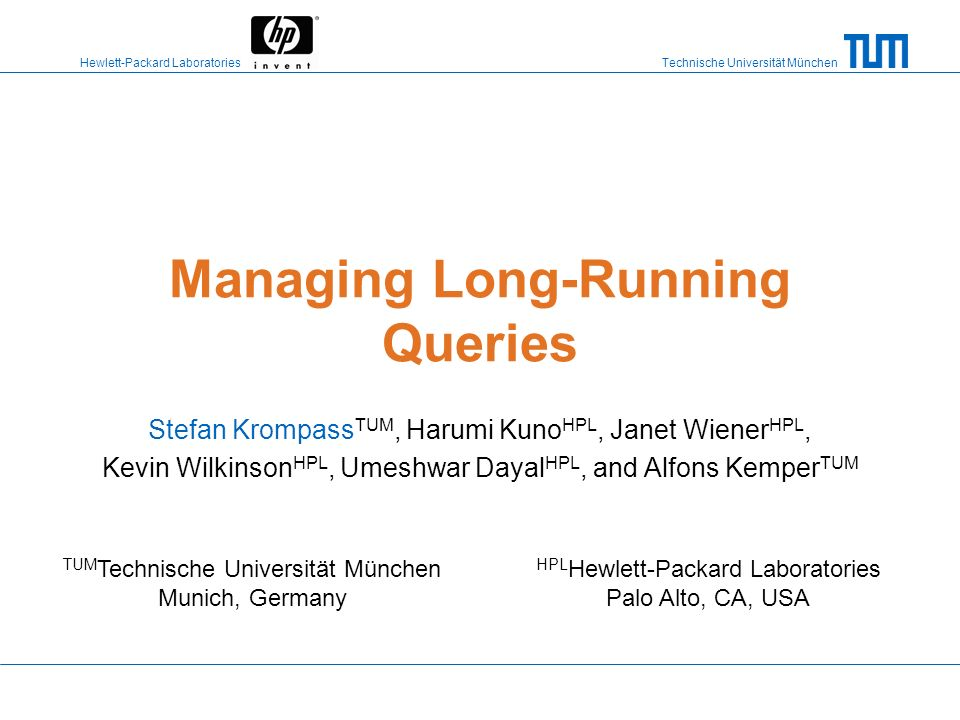 Managing Long-Running Queries