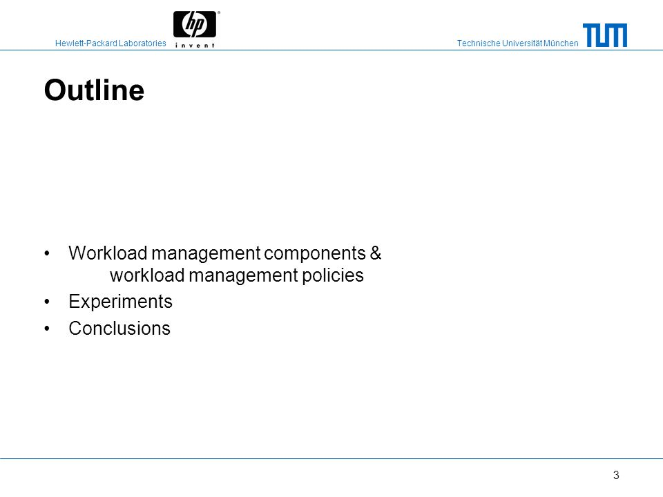 Outline Workload management components & workload management policies