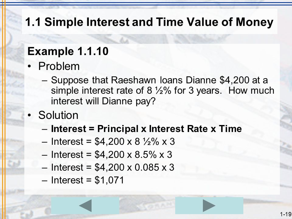 How Much Interest Will I Pay >> Chapter 1 Simple Interest Start Exit Ppt Download