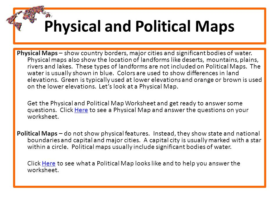 Physical And Political Maps: Map Questions Worksheet At Alzheimers-prions.com