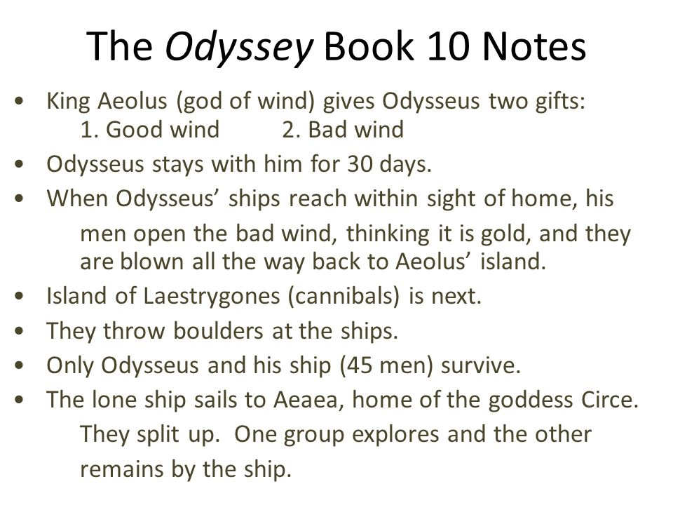 Annotations for the odyssey book 10 circe