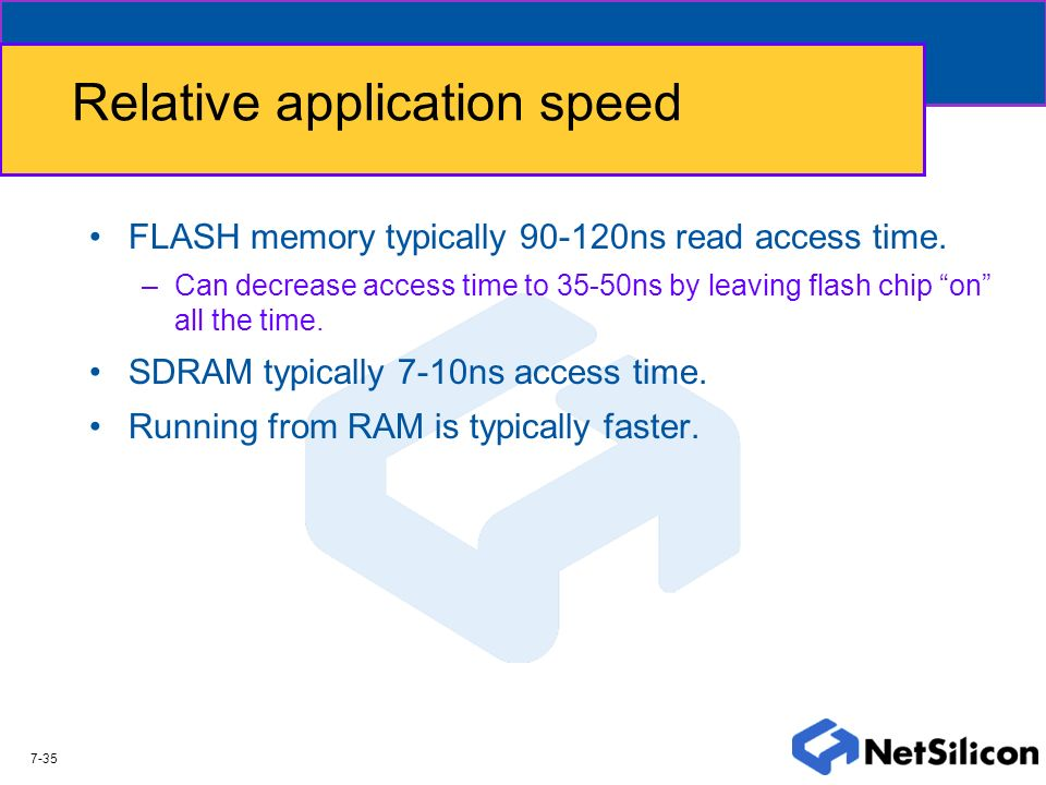 Relative application speed