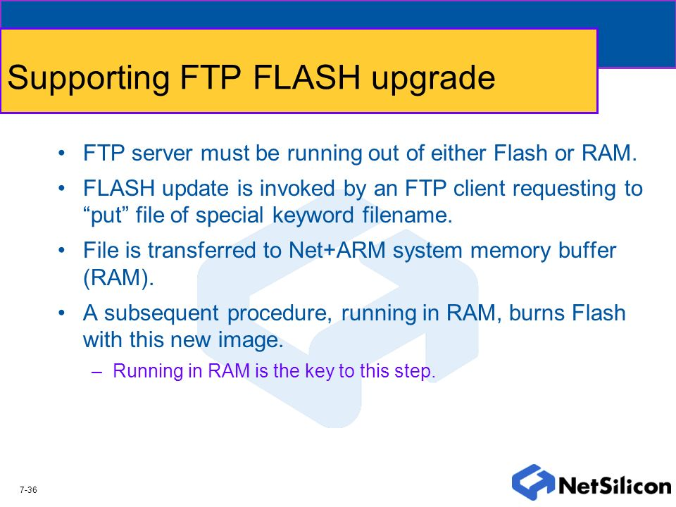 Supporting FTP FLASH upgrade
