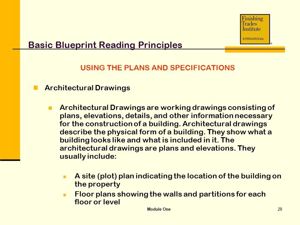 Module one basic blueprint reading principles ppt video online basic blueprint reading principles malvernweather Image collections