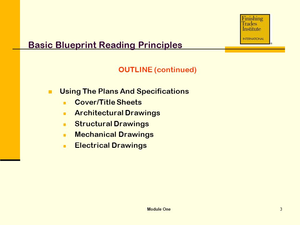Module one basic blueprint reading principles ppt video online basic blueprint reading principles malvernweather Image collections