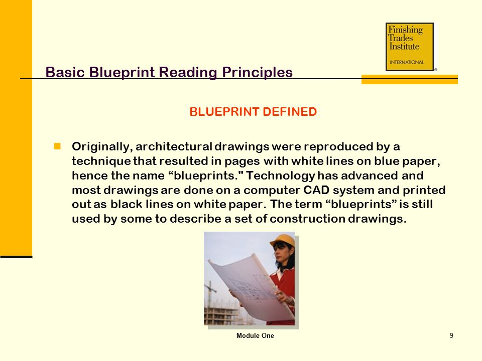Module one basic blueprint reading principles ppt video online basic blueprint reading principles malvernweather