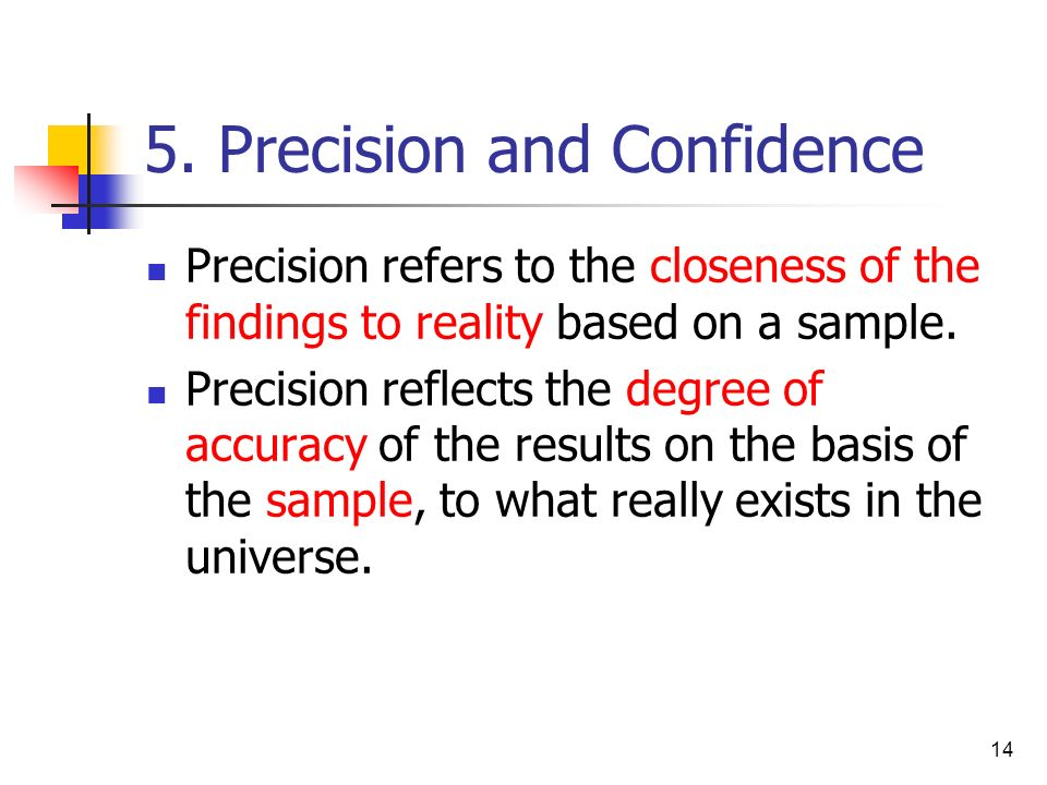 5. Precision and Confidence