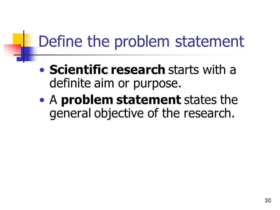 Define the problem statement