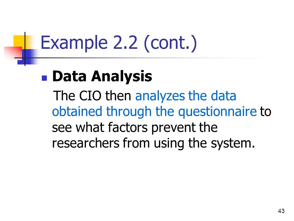 Example 2.2 (cont.) Data Analysis