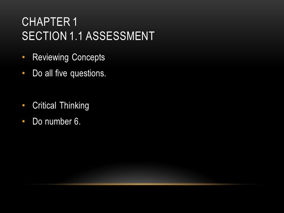 Chapter 1 Section 1.1 Assessment