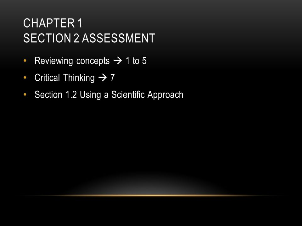 Chapter 1 Section 2 Assessment
