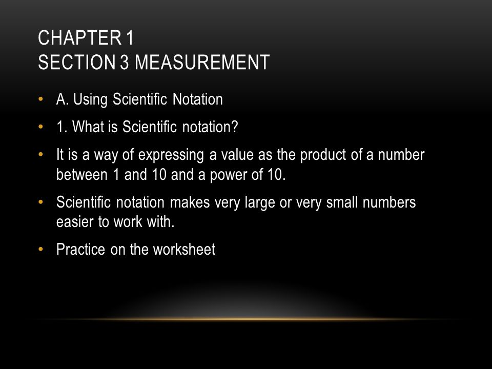 Chapter 1 Section 3 Measurement