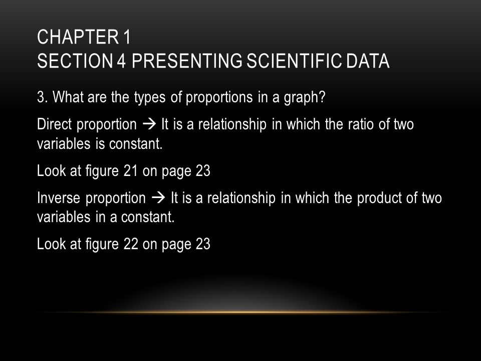 Chapter 1 Section 4 Presenting Scientific Data
