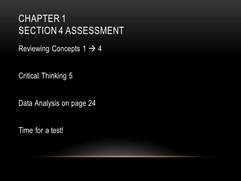 Chapter 1 Section 4 Assessment