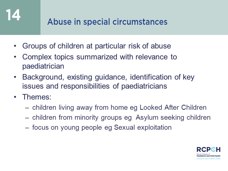 Abuse in special circumstances