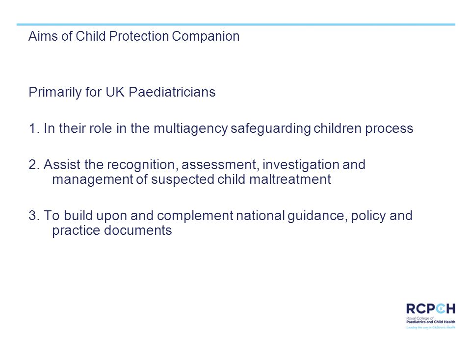 Aims of Child Protection Companion