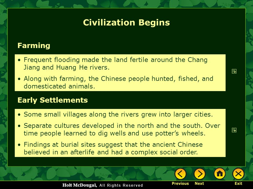Civilization Begins Farming Early Settlements