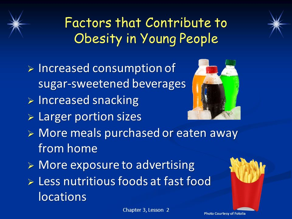 Factors that Contribute to Obesity in Young People