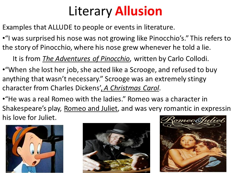 Literary Allusion Examples In Literature Gallery Example Cover